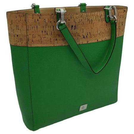 Ralph Lauren Hanway Leather/Cork N/S Shoulder Green Leather (Lauren Ralph Lauren Tate Patent Leather Crossbody)
