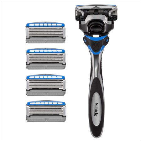 Schick Hydro Sense Hydrate Razors for Men With Skin Guards and Shock Absorbent Technology, 1 Razor Handle and 5 Razor Blades Refills Hydrate Razor & 5 Refills