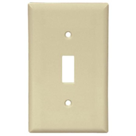 Cooper Wiring 2134A Box 1 Gang Toggle Standard Wall Plate  44  Almond Pack Of 25