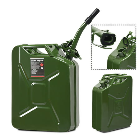 Gymax 5 Gallon 20L Jerry Fuel Can Steel Gas Container Emergency Backup w/ Spout