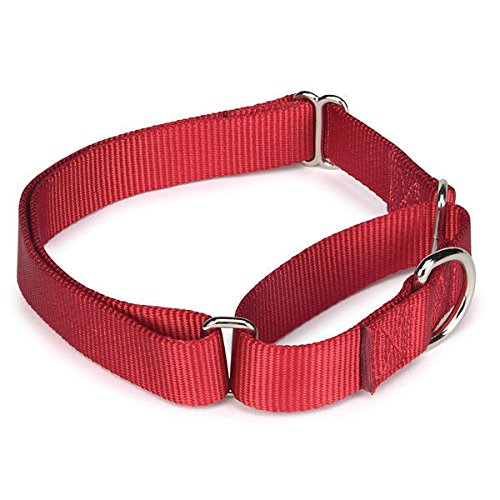 Bulk Lot Martingale Dog Collars at Wholesale Prices Nylon Collar Multi Packs(Red 14 to 20 Inch 3 Collars) by Unbranded