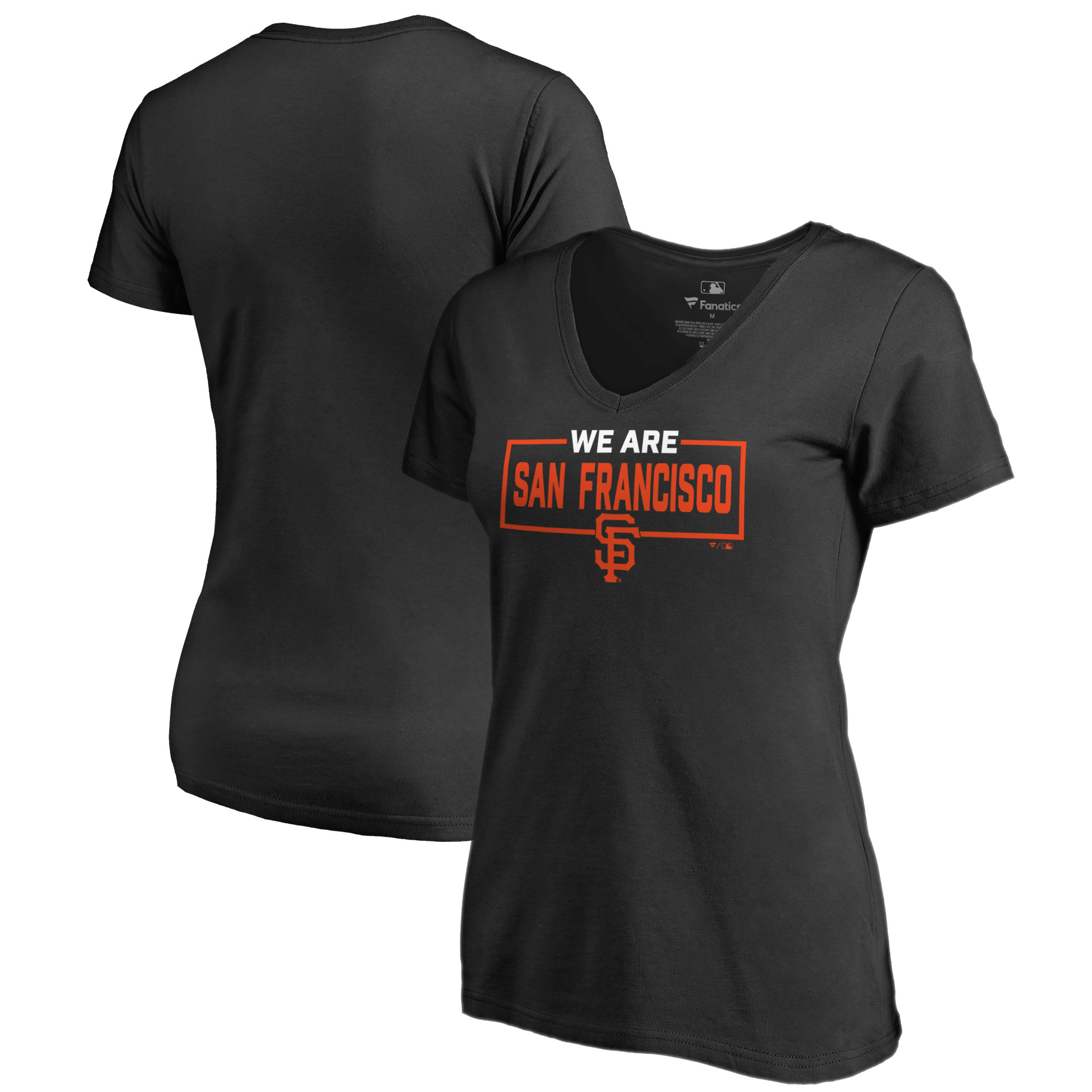 San Francisco Giants Fanatics Branded Women's We Are Icon V-Neck T-Shirt - Black