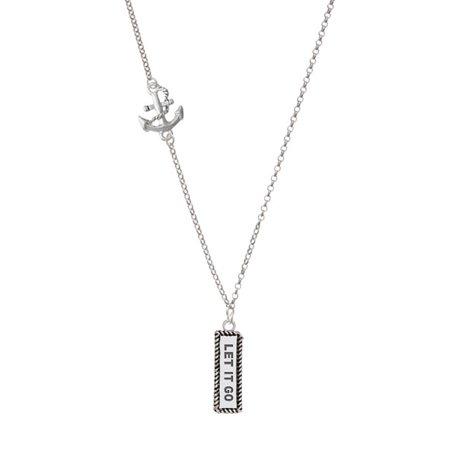 Let It Go Delicate Anchor Necklace