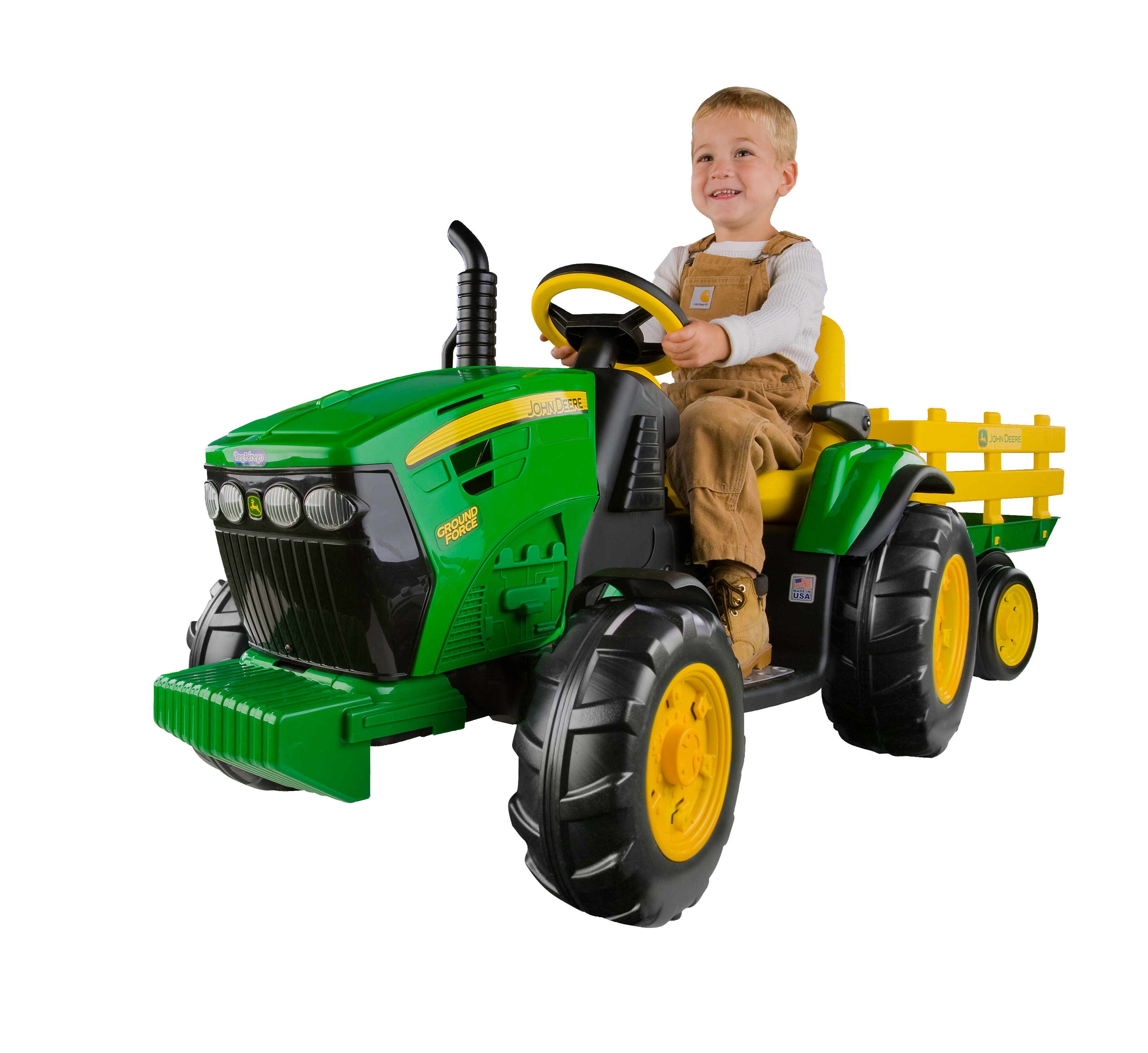 Peg Perego John Deere Ground Force 12-volt Tractor Ride-On