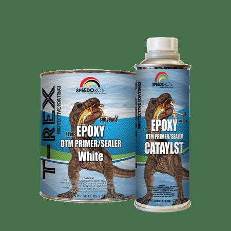 Epoxy Fast Dry 2.1 low voc DTM Primer & Sealer White Quart Kit,