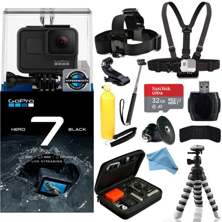 9ac78af2 GoPro HERO7 HERO 7 Black Action Camera Must-Have Accessory Bundle -  Walmart.com