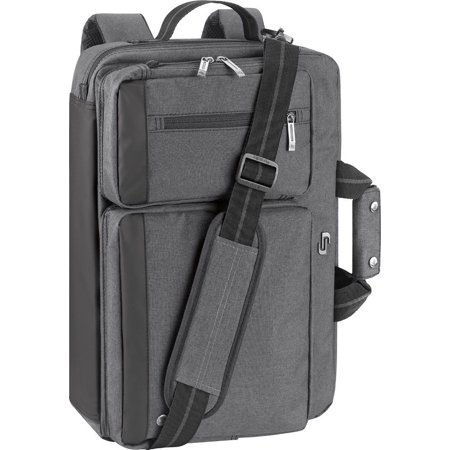 Solo - Urban Convertible Laptop Briefcase Backpack - Gray
