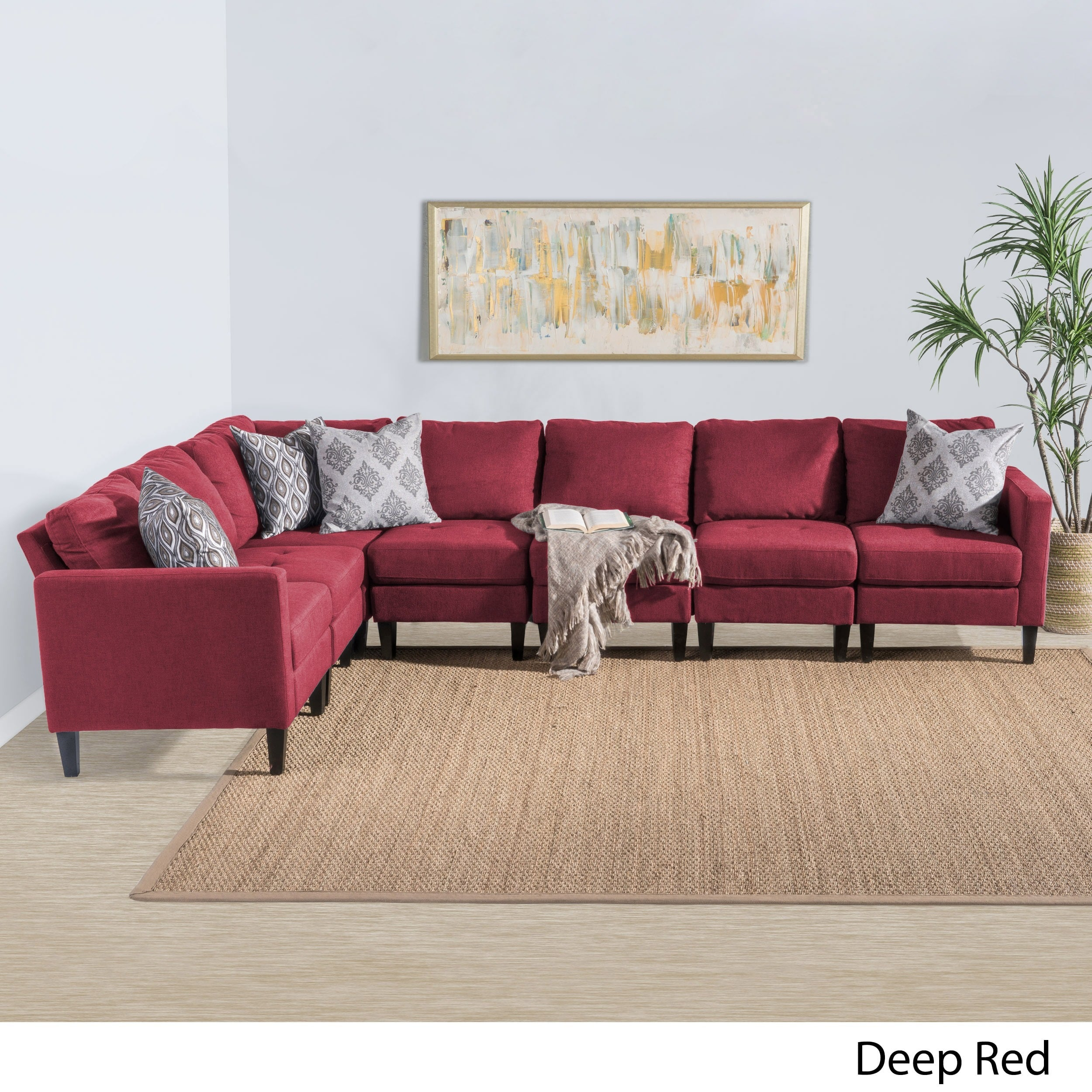 Christopher Knight Home Zahra 7-piece Fabric Sectional Sofa Set by