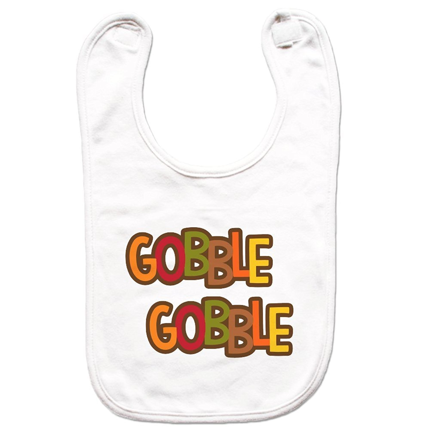 7 ate 9 Apparel Unisex Gobble Gobble Thanksgiving Bib for Babies -