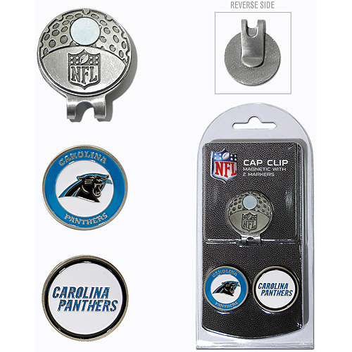 Team Golf NFL Carolina Panthers Cap Clip With 2 Golf Ball Markers