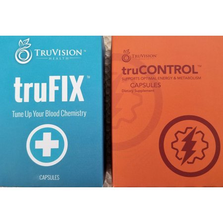 (TRUVISION Health ~ TruFIX and TruCONTROL ~ 30 Day, 1 Month Supply of Each ~ 120 Capsules)