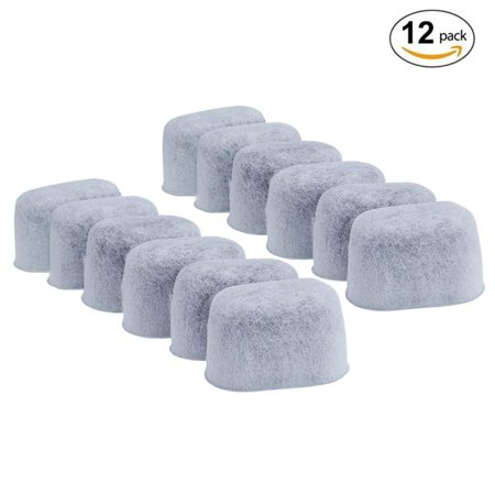 12-Pack Replacement Charcoal Water Filters for Keurig Coffee Machines, White Optional Recirculating Charcoal Filter