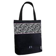 Sassi Design Girls Damask Print Shoe Compartment Blank Dance Bag