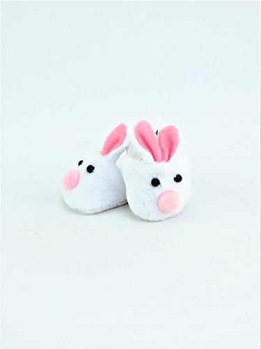 "Pink & White Bunny Slippers Fits 18"" American Girl Dolls, Madame Alexander, Our... by"
