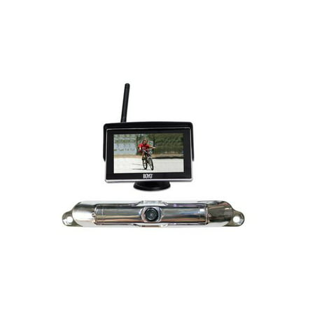 "BOYO VTC404R WiFi Wireless Chrome Bar-Type Camera and Wireless 4.3"" Monitor Package, VTC404R"