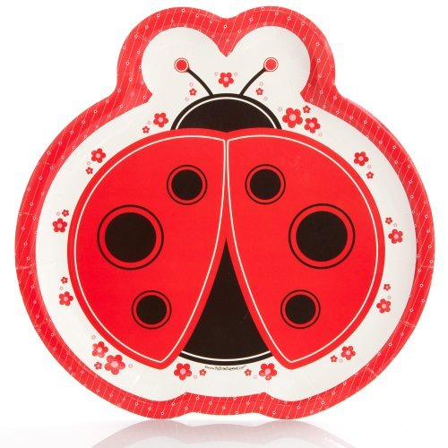 Modern Ladybug - Party Dinner Plates (8 count)