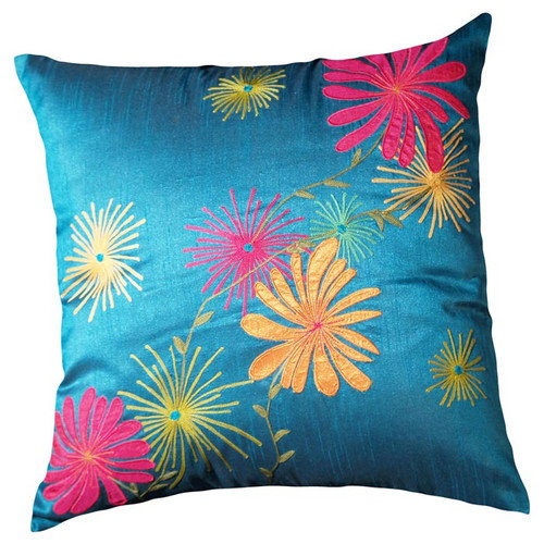 LR Resources Plumeria Throw Pillow
