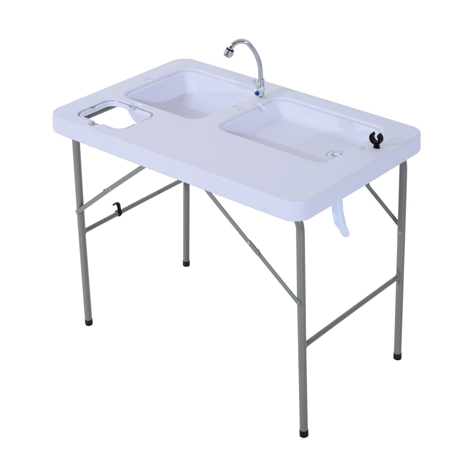 Outsunny Portable Folding Camping Table w  Faucet by Aosom LLC