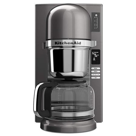- KitchenAid KCM0802MS Pour Over Coffee Brewer, Medallion Silver