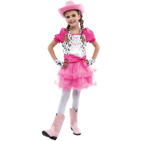 Cowgirls Halloween Costumes (Living Fiction Adorable Cowgirl Halloween 3pc Girl Costume,)