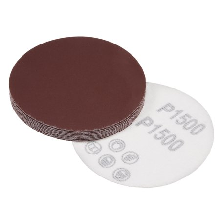 4-Inch Sanding Disc 1500 Grits Aluminum Oxide Flocking Back Sandpapers for Sanders 10 Pcs - image 5 de 5