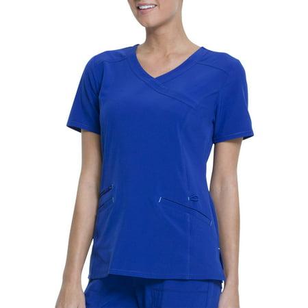 Scrubstar Women's Fashion Premium Performance Mock Wrap Scrub (Sandwashed Mock Wrap Top)