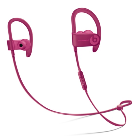 Refurbished Apple Beats Powerbeats3 Wireless Brick Red Neighborhood Collection In Ear Headphones MPXP2LL/A