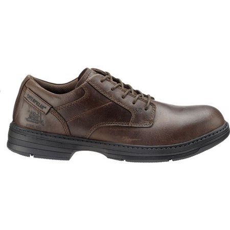 CAT Footwear Oversee Steel Toe - Dark Brown 10.5(W) Work Shoe
