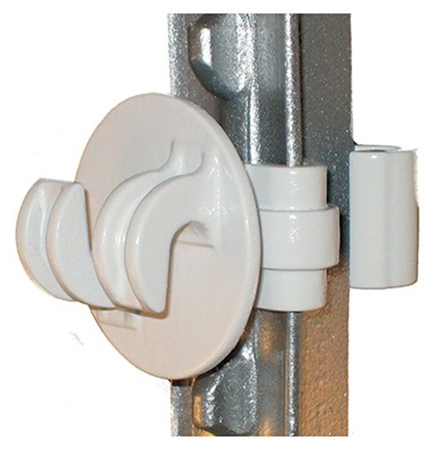 Dare Products STPX-25 Electric Fence Insulator, T-Post, White, 25-Pk. - Quantity 1