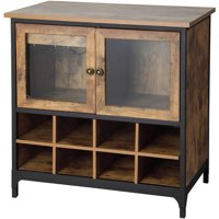 Better Homes and Gardens Rustic Country Wine Cabinet, Pine, Bundle of 5