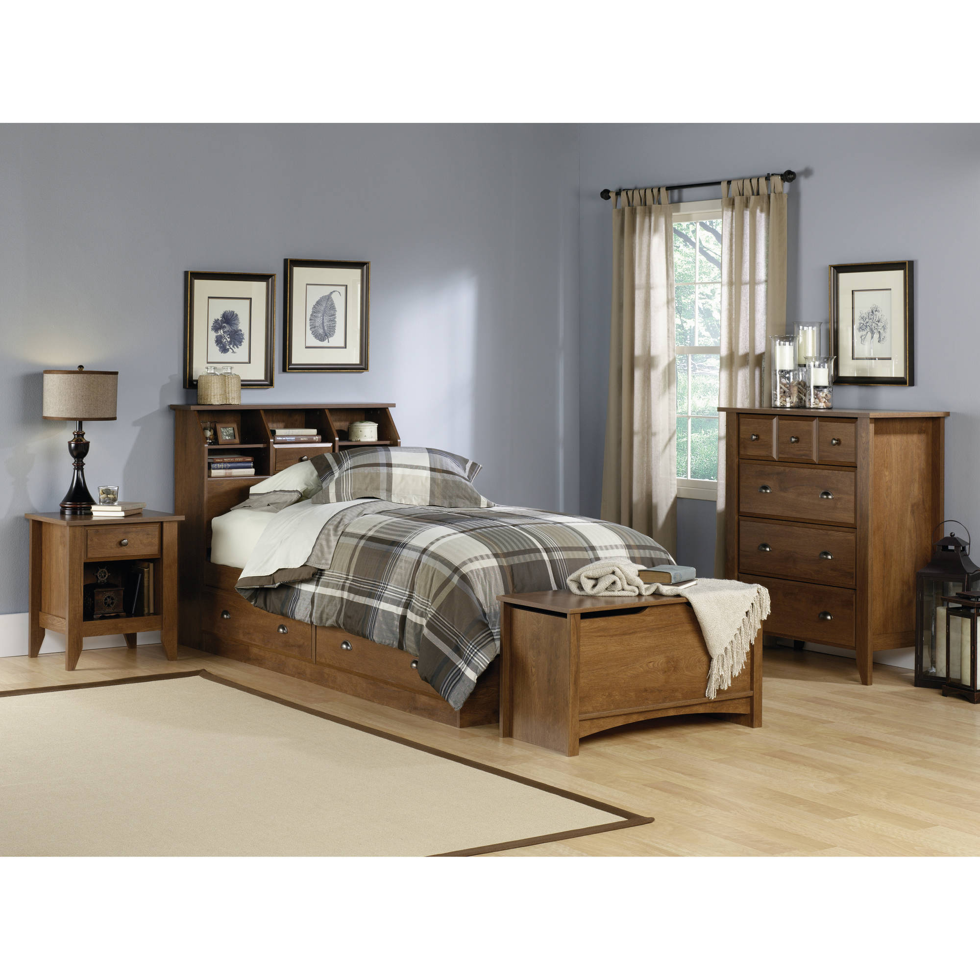 Sauder Shoal Creek Oiled Oak Furniture Collection