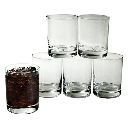 Double Old Fashion 13.25 Oz Glass Tumbler Set of 6 ()