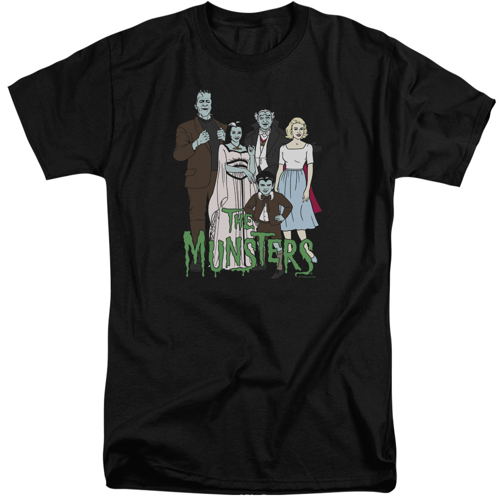 The Munsters The Family Mens Big and Tall Shirt