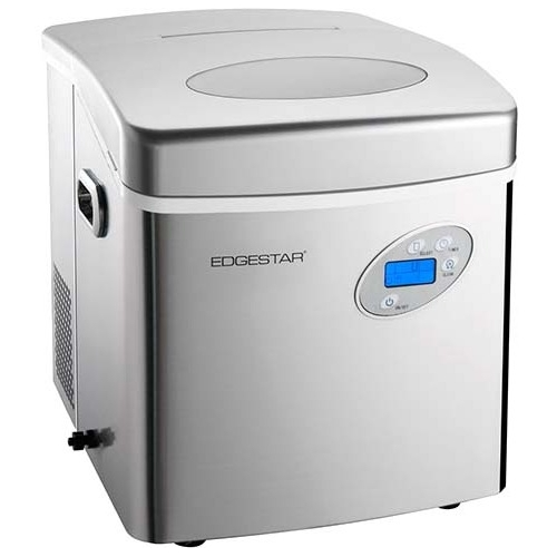 "EdgeStar IP250 17"" Wide 2.6 Lbs. Capacity Portable Ice Maker with 48 Lbs. Daily Ice Production"