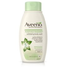 Body Washes & Gels: Aveeno Positively Radiant Exfoliating Body Wash