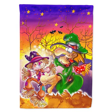 Witch Voodoo Scarecrow Halloween Flag Canvas House Size](Witch Scarecrow)