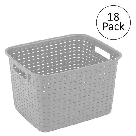 Tall Plastic Laundry Basket Delectable Sterilite 60 Tall Weave Plastic Laundry Hamper Storage Basket
