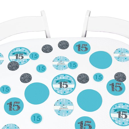 Themes For Sweet 15 (Quinceanera Teal - Sweet 15 - Birthday Party Table Confetti Set - 27)