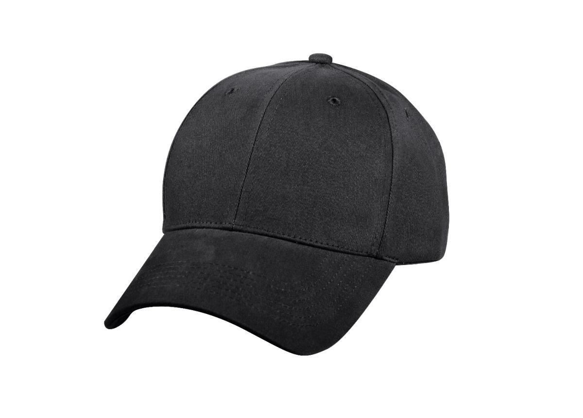 Black Low Profile Baseball Cap - Walmart.com f794fd145eb