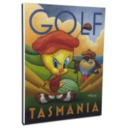 Lord Mischief Entertainment Chuck Jones 'Golf Tasmania' by Mike Kungl Vintage Advertisement on Wrapped Canvas