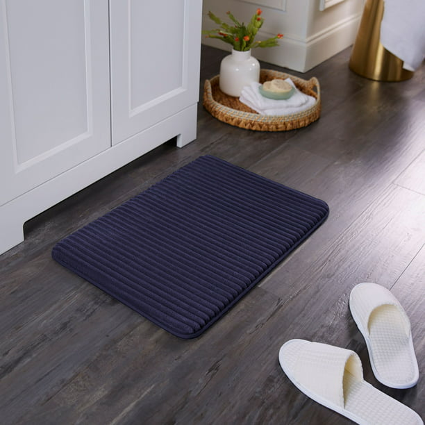 Mainstays Performance Ribbed Quick Dry, Home Goods Bathroom Rugs