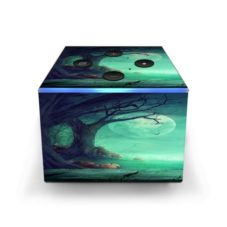 Halloween Cuba (Skin Decal for Amazon Fire TV CUBE + REMOTE / Halloween Tree)