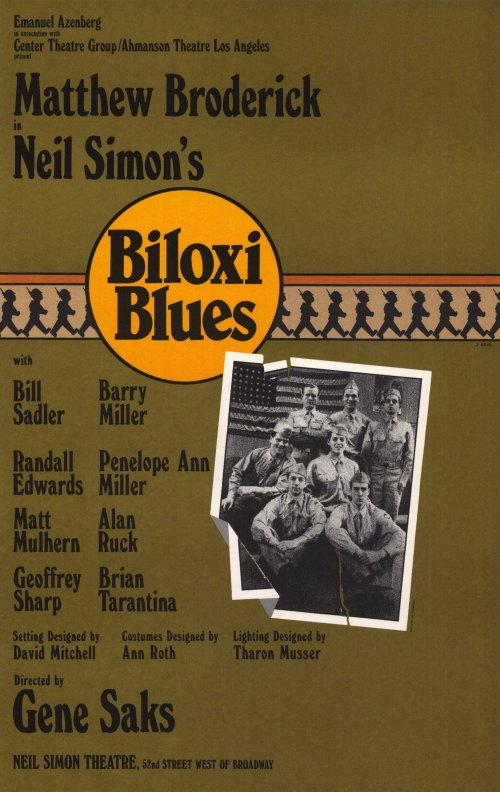 Biloxi Blues Broadway Movie Poster Style A 27 X 40 1985