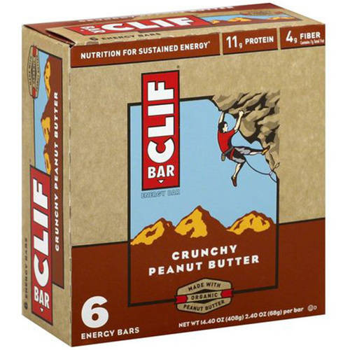 Clif Bar Crunchy Peanut Butter Energy Bars, 6-2.4 oz, (Pack of 9)