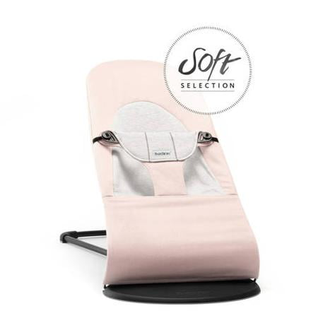 Babybjorn Bouncer Balance Soft Light Pink Gray Cotton Jersey