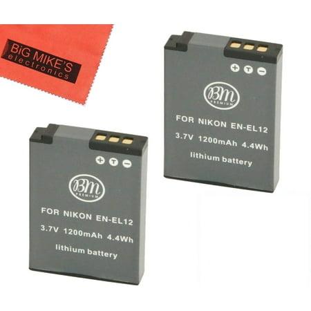 (BM Premium 2 EN-EL12 Batteries for Nikon KeyMission 170, KeyMission 360, Coolpix A900, AW100, AW110, AW120, AW130, S6300, S9050, S9200, S9300, S9400, S9500, S9700, S9900, P310, P330, P340 Camera)
