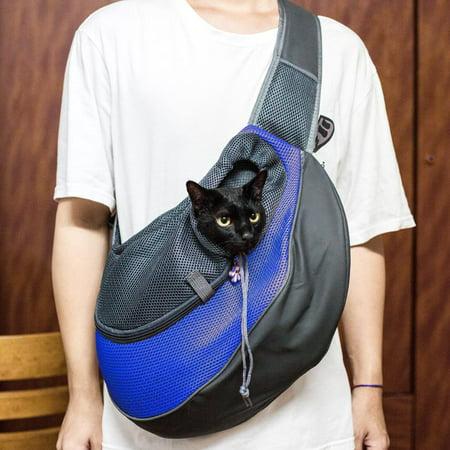 Ktaxon Pet Carrier Out Bag Dog Cat Puppy Single Shoulder Sling Travel Bag Tote L Size Blue