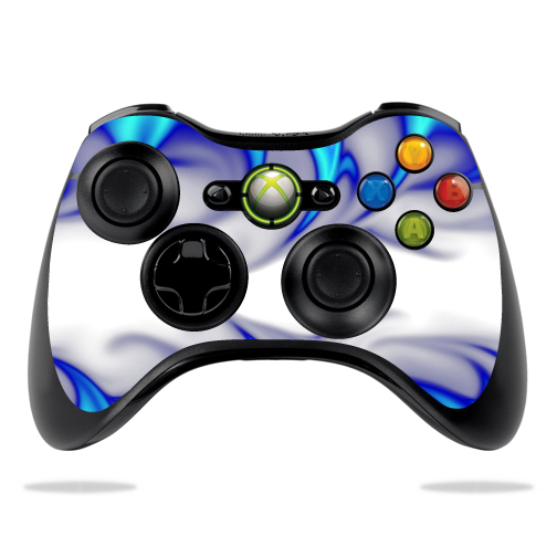 Protective Vinyl Skin Decal Cover for Microsoft Xbox 360 Controller wrap sticker skins Blue Fire