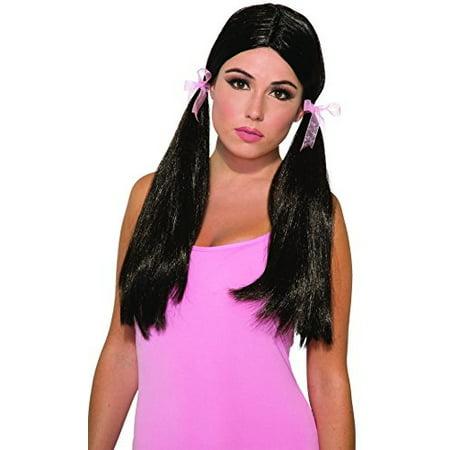 Forum Novelties Party Long Pigtail Wig, Black - image 1 de 1