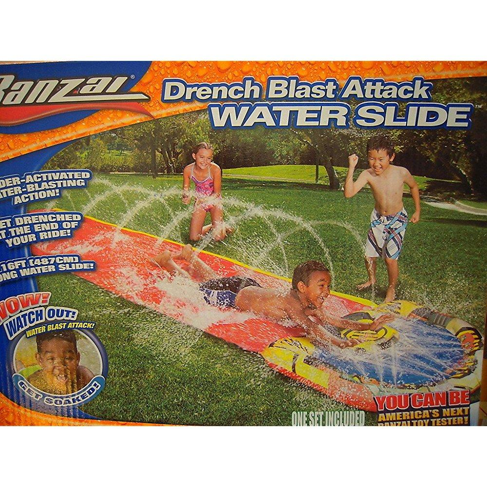 Banzai Drench Blast Attack Waterslide 16 ft by